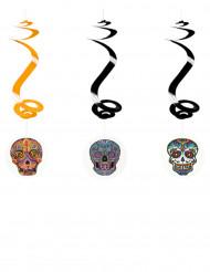 Decorazioni di Halloween: 3 spirali Dia de Los Muertos