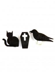 6 Mollette di legno a tema gotico - Halloween