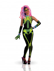 Costume scheletro techno donna