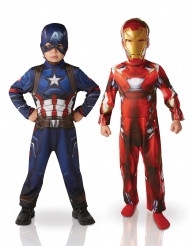 Costume coppia Iron Man™ e Capitan America™   bambino Civil War™