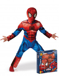 Costume deluxe Ultimate Spiderman™ per bambino con cofanetto