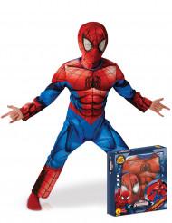 Costume deluxe Ultimate Spiderman™ per bambino con cofanetto