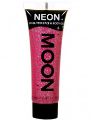 Gel per viso e corpo rosa con paillettes 12 ml UV Moonglow ©