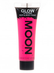 Gel per viso e corpo rosa fosforescente 12 ml Moonglow ©