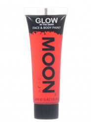 Gel per viso e corpo rosso fosforescente 12 ml Moonglow ©
