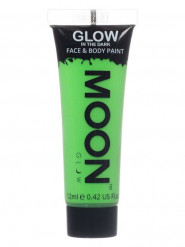 Gel per viso e corpo verde fosforescente 12 ml Moonglow ©