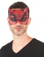 Maschera demone in lattice rosso adulto