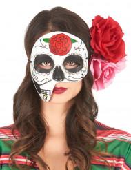 Maschera asimmetrica dia de los muertos