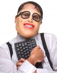 Mezza maschera in lattice geek adulto