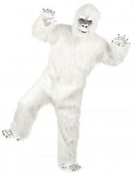 Costume lusso Yéti bianco adulto