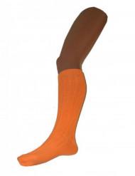 Calze arancioni da donna lunghe 53 cm