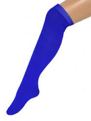 Calze blu da donna lunghe 53 cm