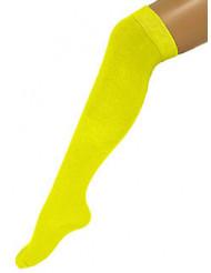 Calze gialle da donna lunghe 53 cm