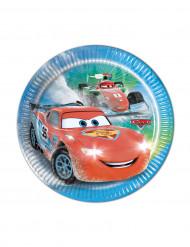 8 piattini di carta Cars Ice Racers™