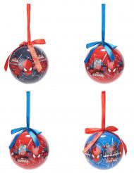 4 Palline di Natale Spiderman™ 7.5 cm
