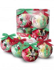 4 palline di Natale Topolino 7.5 cm