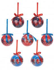 7 Palline Spiderman ™ 7.5 cm Natale