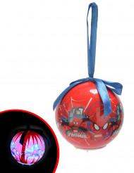 Palla luminosa di Natale Spiderman ™ 7.5 cm
