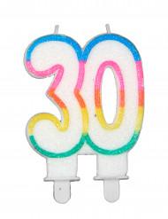Candela per compleanno n°30