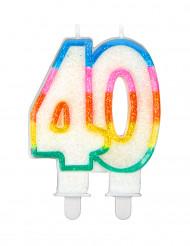 Candelina arcobaleno per compleanno 40 anni
