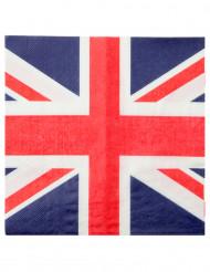Confezione di 20 tovaglioli bandiera Regno Unito