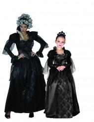 Costume di coppia contesse gotiche mamma e figlia Halloween