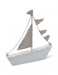 Decorazione barca in legno 18 x 20 cm