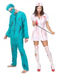Costume coppia chirurgo e infermiera Halloween