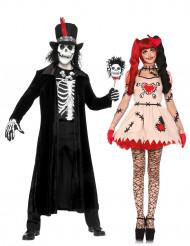 Costume di coppia voodoo Halloween