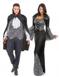 Coppia di vampiri bianca e nera