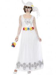 Costume da sposa vestito lungo bianco donna Dia de los muertos