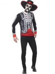 Costume messicano scheletro uomo Dia de los muertos