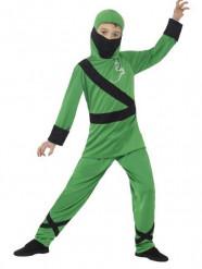 Costume ninja verde Bambino