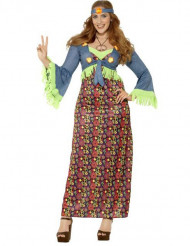 Costume hippie con gonna lunga per Donna