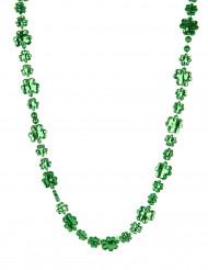 Collana verde con trifogli San Patrizio