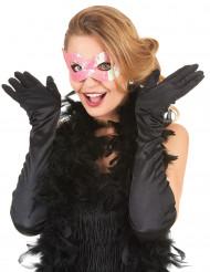 Maschera veneziana con paillettes rosa per adulto