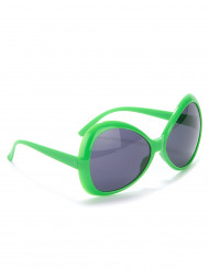 Occhiali disco verdi adulto