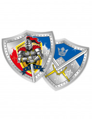 6 Piatti di carta Cavalieri medievali