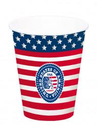 Confezione di 8 bicchieri con bandiera americana