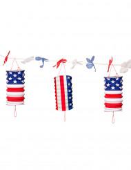 Ghirlanda di lanterne di carta USA stelle e strisce