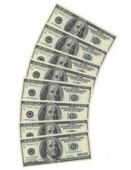 Confezione di 10 tovaglioli banconota da 100 dollari