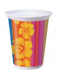 8 bicchieri in plastica Hawaii 473 ml