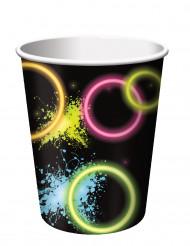 8 bicchieri di cartone Glow Party