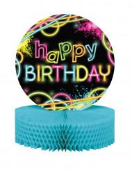 Centro tavola Happy Birthday Fluo