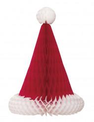 Centro tavola Cappello di Babbo Natale 30 cm