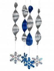 4 sospensioni a spirale fiocchi di neve