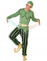 Costume elfo verde Uomo Natale