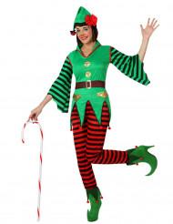 Costume elfo bastoncino zuccherato donna Natale