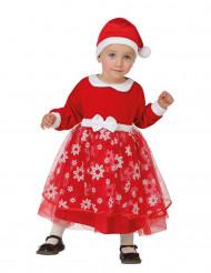 Costume da Principessa di Natale con fiocchi di neve per neonato