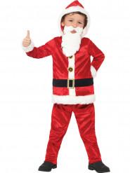 Costume di Babbo Natale con grossa pancia e chip sonoro per bambino